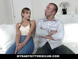 MyBabySittersClub - Teen Babysitter (Jillian Janson) Gets Tight Pussy Fucked 10 min