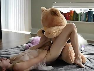 teen fucks teddy bear 7 min