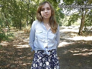 shy teen does porn casting 6 min