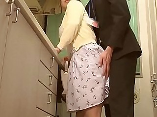 Japanese Housewife Fucked While Husband Is In The Same Room