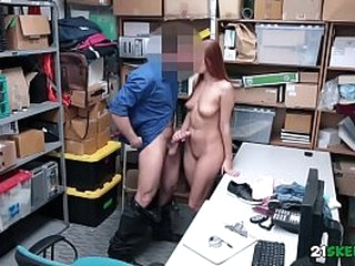 Shoplifting Teenager Morgan Rodriguez Pounded In Back Office