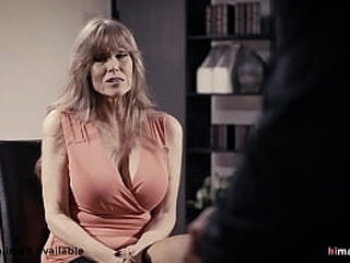 Naughty office sex with the old secretary and the new young boss