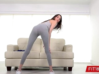FIT18 - Natalia Nix - Tall Skinny Brunette Teen Comes In For Fitness Casting >13 min
