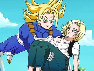 Rescuing Android 18 - Hentai Animated Video >2 min
