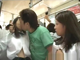 Two japanese student abused bus