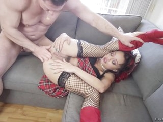 Holly Hendrix - Schoolgirl Assfucking Porn Video