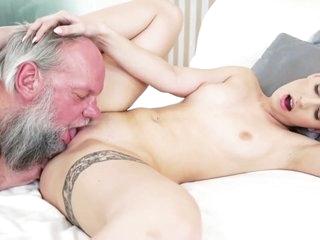 Teen Skank Blows Grandpa