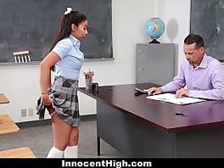Innocent High - Hot Teen Babe (JasmineSummers) Sucked Teacher's Cock